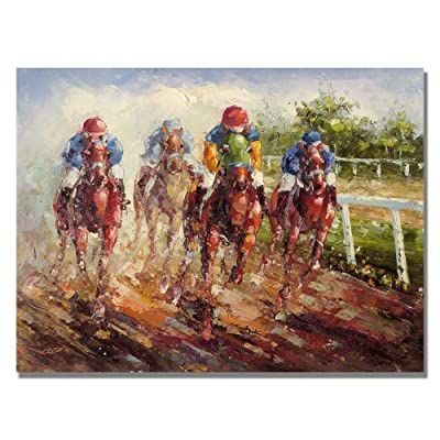 Trademark Fine Art Kentucky Derby by Master's Art Canvas Wall Art
