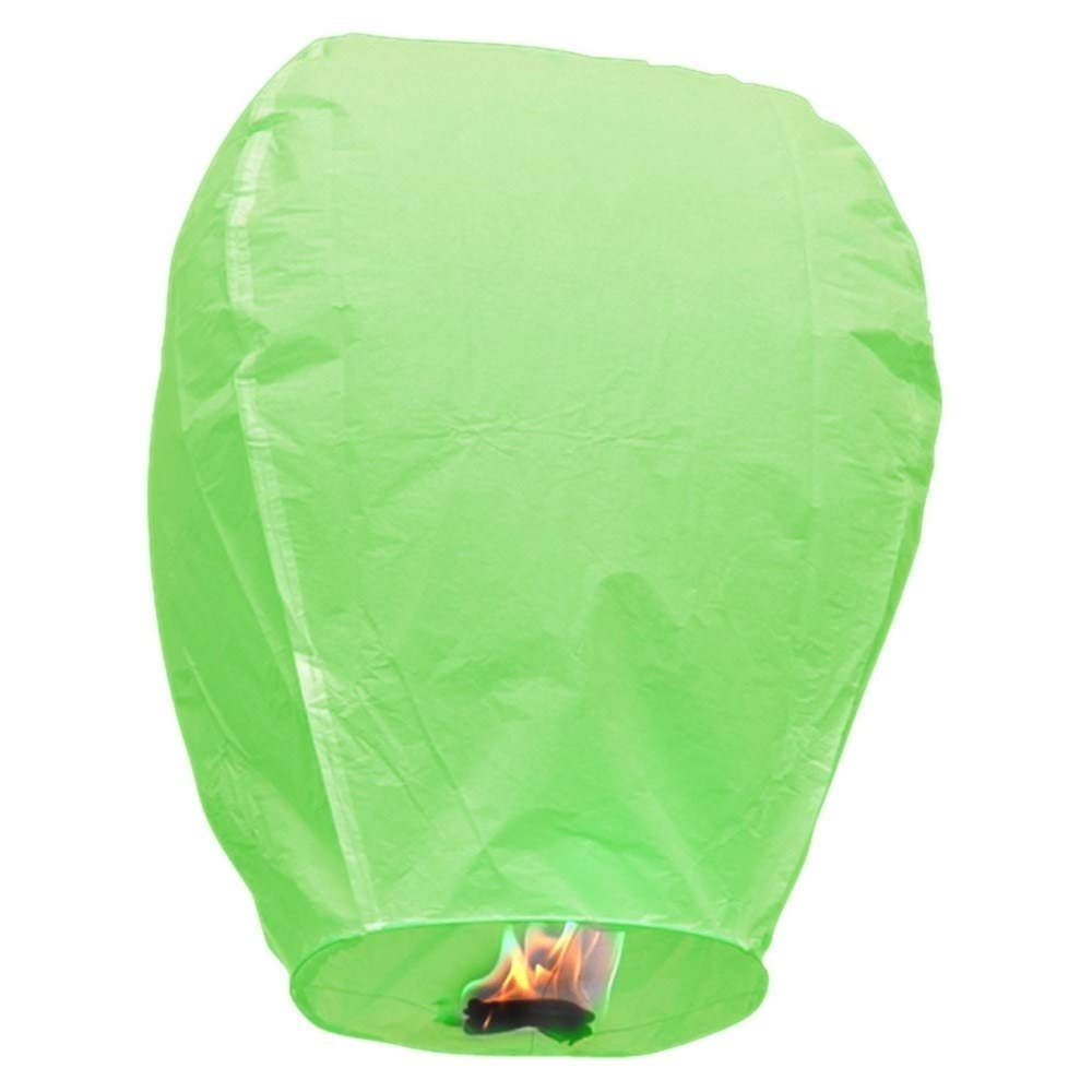MISC Green 5 Floating Lanterns to Release in Sky Chinese Flying Lighted Wish Candles Inflatable Air Biodegradable by MISC (Image #1)