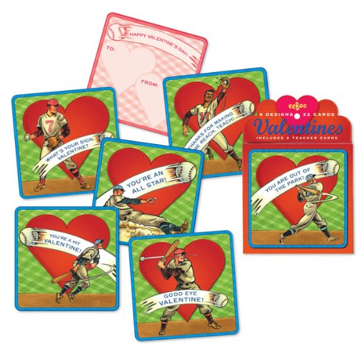 Amazon Com Greeting Card Valentine S Day Boxed Cards Baseball 6