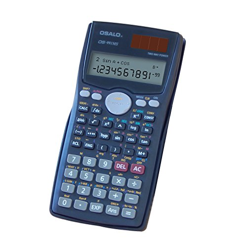 OFFDIX Graphic Calculators, Solar and Battery Dual Power Electronic Calculator Portable 12 Digits Large LCD Display Calculator for Students,Staff and Teachers