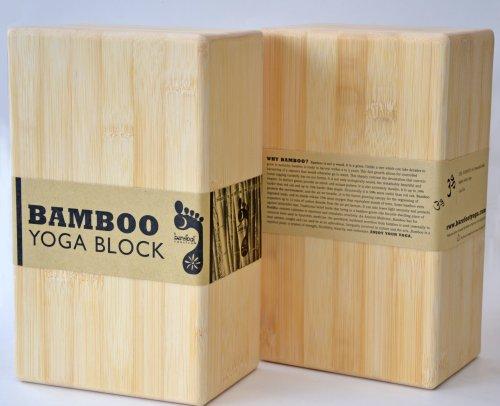 Pair of Barefoot Yoga Eco-Friendly Bamboo Yoga Blocks (2 Blocks)