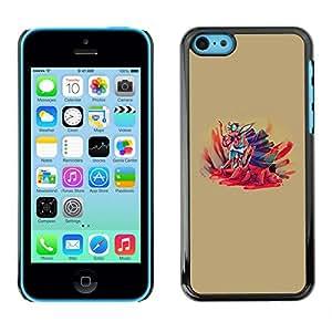 // PHONE CASE GIFT // Duro Estuche protector PC Cáscara Plástico Carcasa Funda Hard Protective Case for iPhone 5C / Fumetto Splatter /