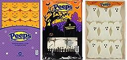 Marshmallow Peeps Halloween Bundle of Three - 3.25 Oz Packages: 9 Tombstones, 9 Ghosts, 24 Pumpkins
