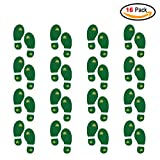 #4: St.particks Day Decorations, Konsait St.patrick Leprechaun Footprint Floor Decals Removable Shamrock Foot Stickers for Window Walls Saint Patty's Day Party Favors Supplies Decoration(16 Pairs)