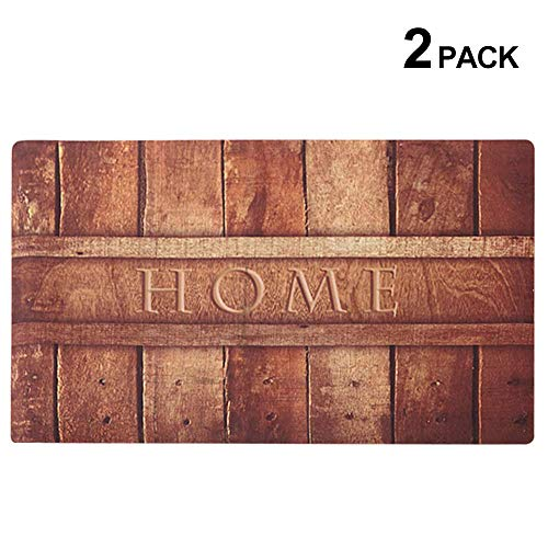 Rubber Indoor Doormat Rustic Entrance Welcome Mat Heavy