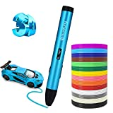 Sunfuny 3D Pen, 3D Printing Doodler Pen with LCD Screen 140 Feet PLA