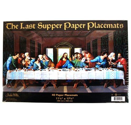1 X Last Supper Paper Placemats ()