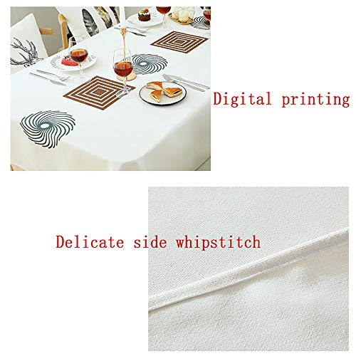 Spring & Summer Outdoor Tablecloth, Spill Proof and Waterproof Mouse Pad Unique ed Mousepad Spa Tower Stone And Hibiscus With BambooOn The Water Blurred Stitc Easy Care Spillproof/W54 x L120 Inch by PINAFORE HOME (Image #2)