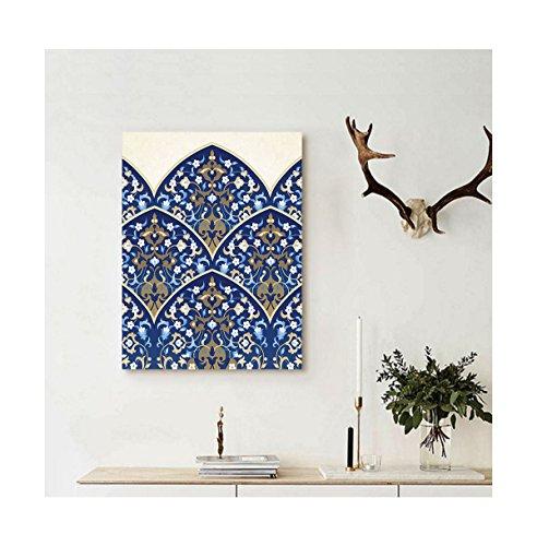 liguo88personalizado lona arte de la decoración de la casa persa tradicional arco respaldado con formas de cachemira turco...