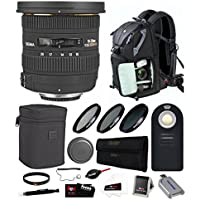 Sigma 10-20mm f/3.5 EX DC HSM ELD SLD Wide-Angle Lens for NIKON DSLR Cameras (202101) w/ Photo & Travel Bundle