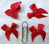 100 Satin Ribbon Bows Mini Mixed Embellishment