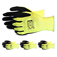 Superior Gardening Gloves 3-Pack for Landscaping and Yard Work – Rose Pruning Gloves with Moisture Wicking (High Visibility Color) S13HVLX (Small)