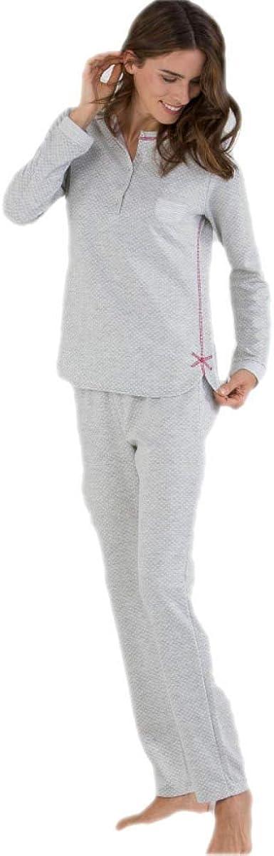 Massana Pijama de Mujer con Tapeta P691212 - Gris Vigore, XL ...