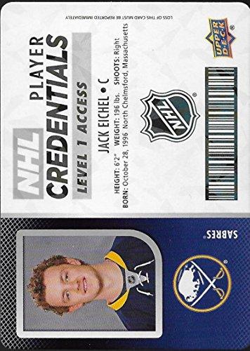 2017-18 Upper Deck MVP NHL Player Credentials Level 1 Access #NHL-JE Jack Eichel Buffalo Sabres