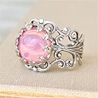 Promsup Vintage Women Jewelry 925 Silver Pink Sapphire Wedding Engagement Ring Size 6-10 (9)