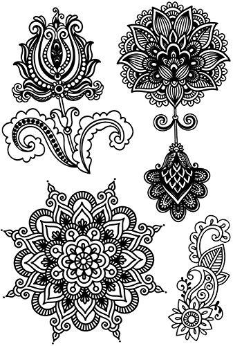 Tatuajes temporales de flores de loto mandalas y rosas para hombre ...