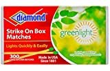 Diamond Strike on Box Greenlight Matches, 300 Count