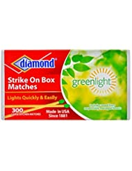 Diamond Strike on Box Greenlight Matches, 300 Count