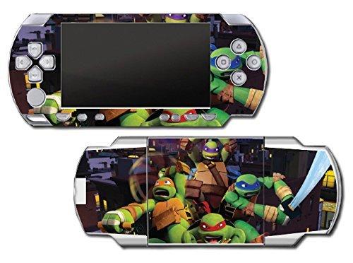Teenage Mutant Ninja Turtles TMNT Leonardo Leo 3D TV Cartoon Movie Video Game Vinyl Decal Skin Sticker Cover for Sony PSP Playstation Portable Original Fat 1000 Series System (Turtles Ninja Games Psp)