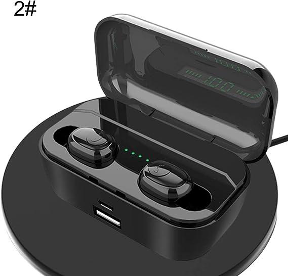 obiqngwi 1/2 Unids Auriculares Bluetooth Estéreo Bilaterales Auriculares Inalámbricos de Alta Definición con Estuche de Carga: Amazon.es: Electrónica
