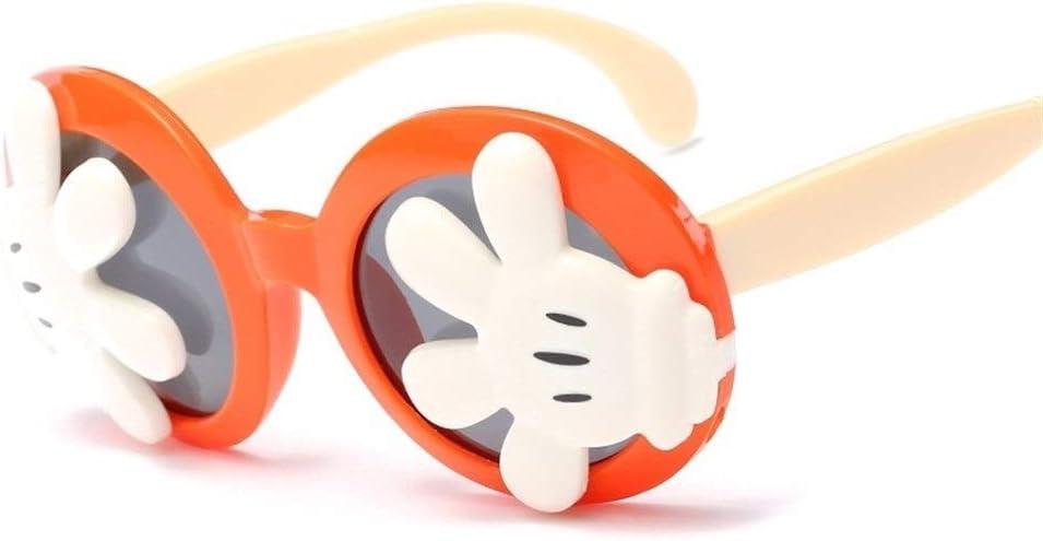 Weichunya - Gafas de sol para niños, diseño de dibujos animados con protector solar UV400 TAC de sílice con marco completo (color: rojo tierno+blanco)