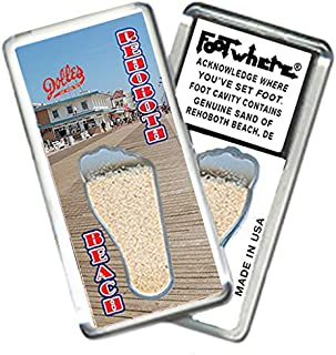 "product image for Rehoboth Beach""FootWhere"" Souvenir Fridge Magnet. Made in USA (RB203 - Boardwalk)"