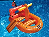 "62"" Galleon Raider Inflatable Swimming Pool Pirate Ship Floating Boat Toy"