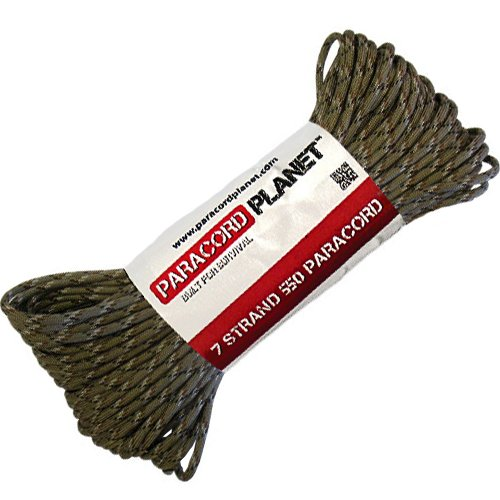 Paracord Planet 100' Hanks Parachute 550 Cord Type III 7 Strand Paracord Top 40 Most Popular Colors (Desert Camo)