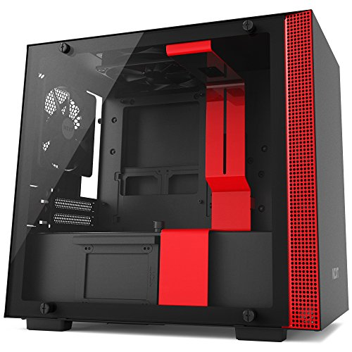 NZXT H200 Desktop Computer Case, CA-H200B-BR, Black/Red by Nzxt
