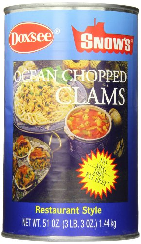 Bumble Bee Snow's Ocean Chopped Clams, 51 Ounce Can