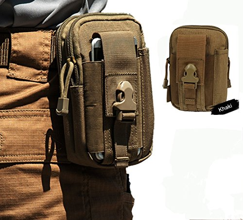 Foxtop-Waist-Pack-Multi-Purpose-Poly-Tool-Holder-EDC-Pouch-Camo-Bag-Military-Nylon-Utility-Tactical-Waist-Pack-Camping-Hiking-Pouch-Khaki