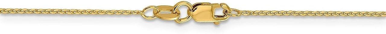 Lex /& Lu Leslies 14k Yellow Gold D//C Cable Chain Necklace LAL91976