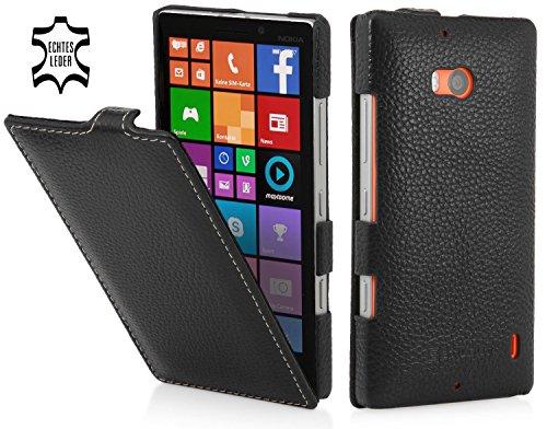StilGut UltraSlim, Genuine Leather Case for Nokia Lumia 930 & Lumia Icon (Verizon Wireless), Navy - Icon Leather Genuine