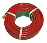 XtremepowerUS 25 FT X 1/4'' ID Oxygen & Acetylene Twin Welding Hose 300PSI Home/Business Welder