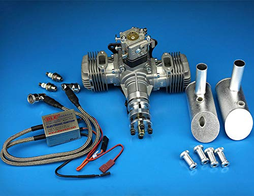 New DLE Engine DLE40 40CC Twin Gasoline w/Electronic Ignition for Model Airplane