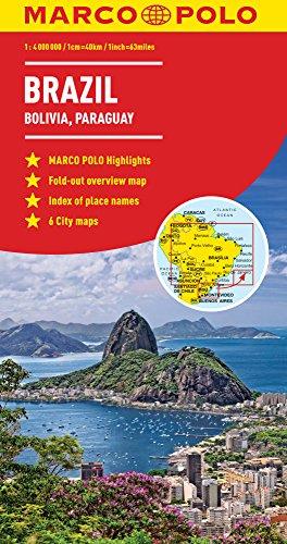 Brazil, Bolivia, Paraguay, Uruguay Marco Polo Map (Marco Polo Maps)...