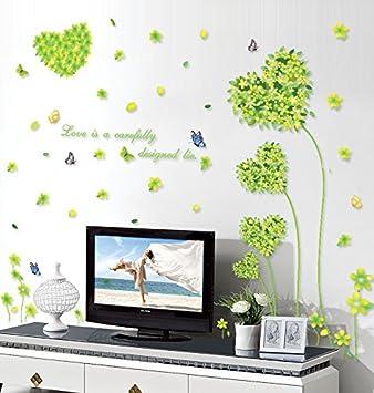 Weaeo Amour Haute Qualité Environnementale Intérieure Herbe Stickers