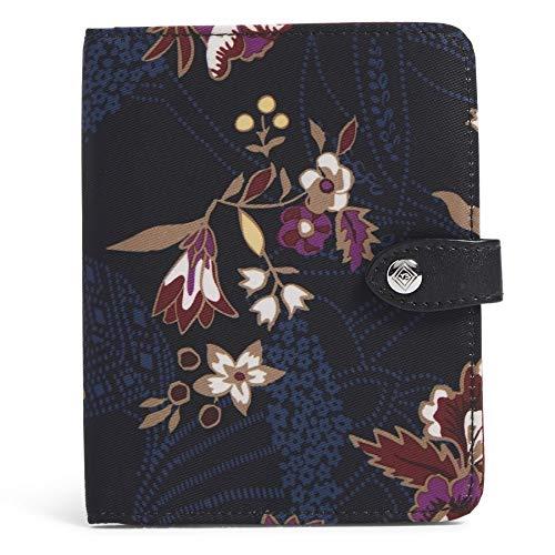 51XnA30b8AL - Vera Bradley Women's Midtown RFID Travel Passport Wallet, Garden Dream, One Size