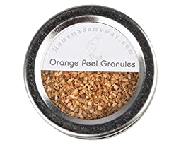 Homemade My Way Orange Peel Granules 2.50 oz in Magnetic Spice Tin with a Clear Shaker Top