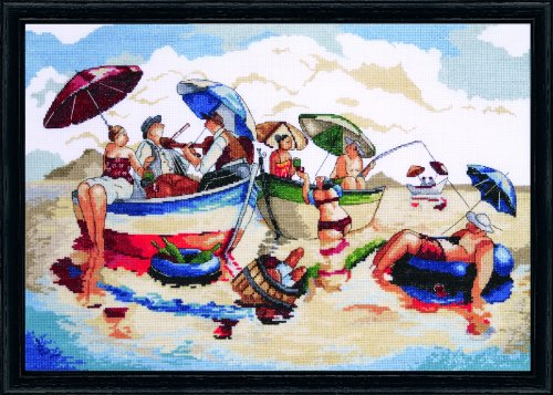 """Design Works Crafts Tobin 0724-00-23 Water Lunch Counted Cross Stitch Kit-14""""X20"""" 14 Count"""