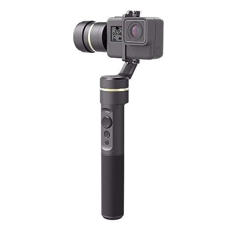 Feiyu Tech G5 - Gimbal estabilizador para GoPro y Cámara deportiva, 3 ejes, batería de 8 horas, Bluetooth, 360 grados, resistente a salpicaduras, ...