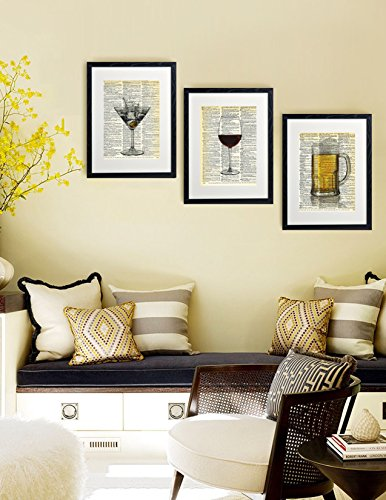 Dictionary Art Print Dirty Martini Glass Printed On