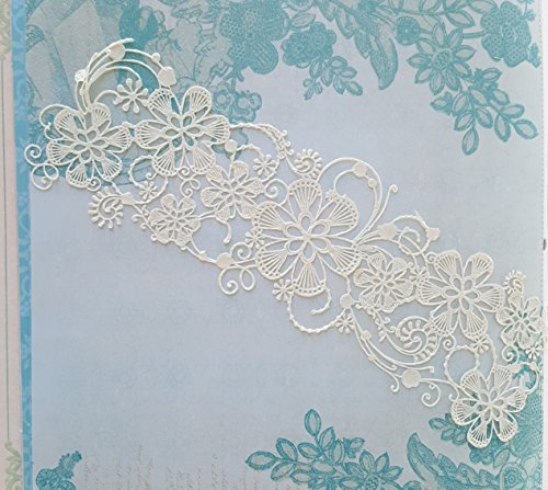 2 PC White Vanilla Edible Lace - Wedding Whispering Willow Cake Lace - Willow Lace