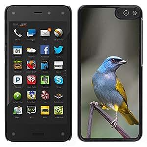 """For Amazon Fire Phone 4.7 Case , Poder Azul Tropical Pájaro gris de la pluma"""" - Diseño Patrón Teléfono Caso Cubierta Case Bumper Duro Protección Case Cover Funda"""