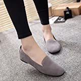 Hemlock Women Office Flats Boat Sandals Low Heel Flat Shoes Wedge Slippers (US:8, Grey1)