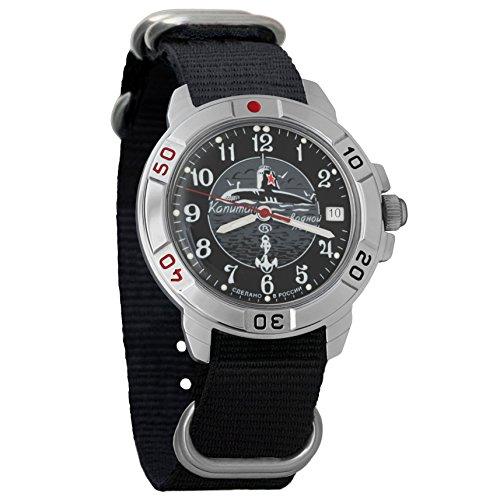 U-boot Submarine (Vostok Komandirskie 2414 431831NB Russian Military U-boot Submarine Mechanical Watch)