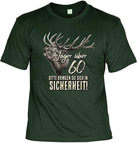T-Shirt - Jäger über 60 - bringen Sie sich in Sicherheit - cooles Shirt mit lustigem Spruch als ideales Geburtstagsgeschenk