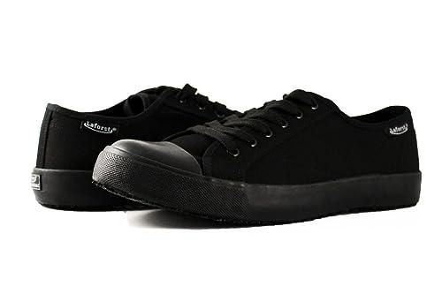 16e9d1e8109 Townforst Cheryl Slip Resistant Black Sunbrella Converse Style Rubber Toe  Water Resistant Non Slip Waitress Shoes