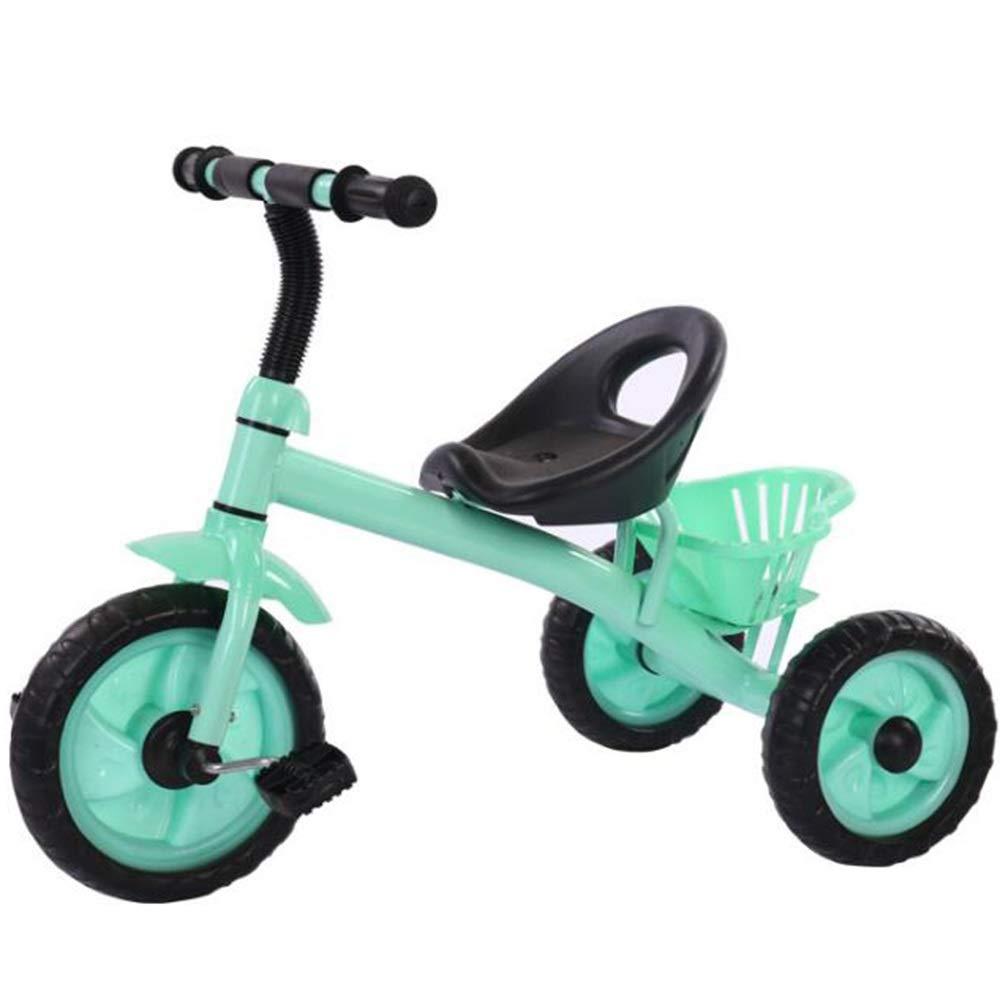 YUMEIGE 子供用三輪車 キッズ三輪車15歳の誕生日プレゼントキッズ幼児トライク荷重25 Kg(男の子/女の子) 得ることができます B07QX7WXTJ  緑