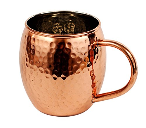 Hammered copper barrel nickel lining product image
